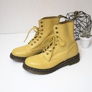 Dr Martens Pascal Yellow Boots Unisex